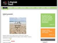 Frontpage screenshot for site: Linguae Next (http://www.linguae-next.hr)