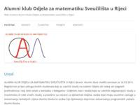 Slika naslovnice sjedišta: Stranica alumni kluba odjela za matematiku Rijeke (http://www.alumniklubmatri.hr)
