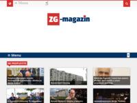 Frontpage screenshot for site: ZG-magazin (http://udruga-zg.hr/)