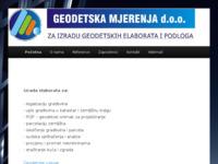Slika naslovnice sjedišta: Geodetska mjerenja d.o.o. (http://www.geodetska-mjerenja.hr)