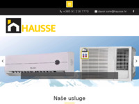 Frontpage screenshot for site: Hausse (http://www.hausse.hr)