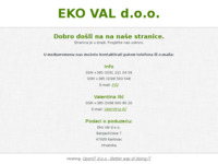Slika naslovnice sjedišta: EKO VAL d.o.o. Karlovac (http://www.eko-val.hr)