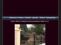 Slika naslovnice sjedišta: Kovane ograde Vladar d.o.o. Koprivnica (http://www.vladar.hr)