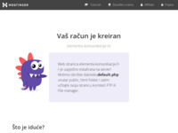 Frontpage screenshot for site: Elementa komunikacije (http://elementa-komunikacije.hr)