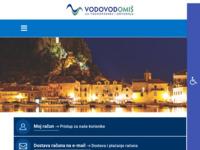 Frontpage screenshot for site: Vodovod d.o.o. Omiš (http://www.vodovod.hr)