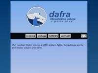 Frontpage screenshot for site: Dafra - intelektualne usluge u pomorstvu (http://www.dafra-obrt.hr)