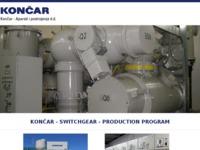 Frontpage screenshot for site: Končar - Električni visokonaponski aparati d.d. (http://www.koncar-eva.hr)