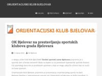 Slika naslovnice sjedišta: Orijentacijski klub Bjelovar (http://www.okb.hr)