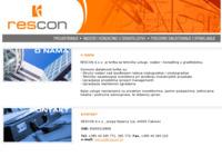 Slika naslovnice sjedišta: Rescon d.o.o. Čakovec (http://www.rescon.hr)