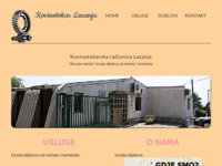 Frontpage screenshot for site: Kovinotokarska radionica Frane Lazanja (http://www.kovinotokar-lazanja.hr)