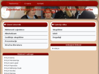 Slika naslovnice sjedišta: Zajednica klubova lijecenih alkoholicara (http://www.zk-la.hr/)