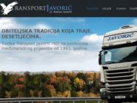 Slika naslovnice sjedišta: Transporti Javorić (http://www.transport-javoric.eu)