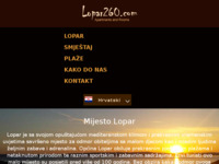 Frontpage screenshot for site: Lopar (http://www.lopar260.com/)