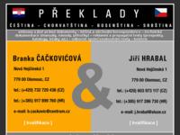 Frontpage screenshot for site: (http://www.chorvatstina.com)