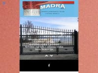 Frontpage screenshot for site: Madra d.o.o. (Čavle) - poduzeće za građevinarstvo i trgovinu (http://www.madra.hr/)