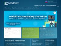 Slika naslovnice sjedišta: IT obrazovanja - ICT Academy (http://www.ict-academy.eu)