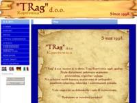 Frontpage screenshot for site: Trag, Koprivnica (http://www.trag-grupa.hr)