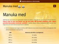 Frontpage screenshot for site: Manuka med (http://manukamed.hr/)