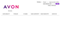 Frontpage screenshot for site: Avon (http://www.avon.hr)