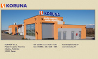 Frontpage screenshot for site: Koruna d.o.o. Zadar (http://www.koruna.hr)