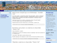 Frontpage screenshot for site: Moj Grad Zagreb (http://www.mojgradzagreb.hr/)
