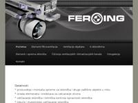 Frontpage screenshot for site: Feroing.hr (http://www.feroing.hr)