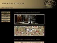 Frontpage screenshot for site: (http://www.artfilmatelier.hr)