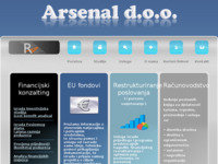 Frontpage screenshot for site: (http://www.arsenal.hr)