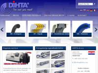 Frontpage screenshot for site: Dihta d.o.o. (http://www.dihta.com)