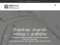Frontpage screenshot for site: Grga d.o.o. (http://www.grga-projektiranje.hr)