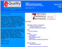 Frontpage screenshot for site: e-Quality (http://kvaliteta.inet.hr/e-quality/index.htm)