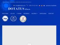Slika naslovnice sjedišta: DOTATUS d.o.o. za projektiranje, proizvodnju i montažu metalnih konstrukcija (http://www.dotatus.hr)