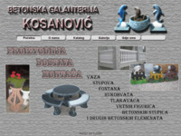 Slika naslovnice sjedišta: Betonska galanterija KOSANOVIĆ (http://www.betonska-galanterija-kosanovic.hr/)
