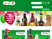 Frontpage screenshot for site: VerVita sokovnici i blenderi (http://vervita.hr/)