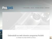 Frontpage screenshot for site: ProSAS (http://www.prosas.com.hr)