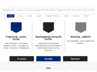 Frontpage screenshot for site: Organochem d.o.o. Zagreb (http://www.organochem.hr)