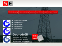 Frontpage screenshot for site: 5E d.o.o. Rijeka (http://www.5e-rijeka.hr)