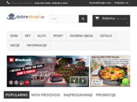 Frontpage screenshot for site: dobrestvari (http://www.dobrestvari.hr)