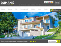 Frontpage screenshot for site: (http://apartments-dumanic.com)