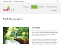 Frontpage screenshot for site: MM Model d.o.o. (http://www.mm-model.hr)