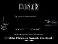 Frontpage screenshot for site: HUZUK - Hrvatska Udruga za Znanost, Umjetnost i Kulturu (http://www.huzuk-os.hr)
