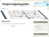Frontpage screenshot for site: Tečajevi engleskog jezika (http://tecajeviengleskogjezika.wordpress.com/)