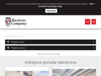 Frontpage screenshot for site: Agencija za nekretnine Business Company u Rovinju (http://www.business-company.hr)