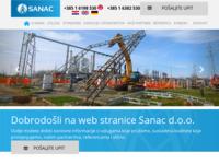 Slika naslovnice sjedišta: Sanac d.o.o. - izgradnja i održavanje energetske infrastrukture (http://www.sanac.hr)