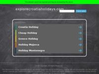 Frontpage screenshot for site: Croatia holidays (http://www.explorecroatiaholidays.com/)