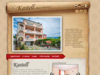 Frontpage screenshot for site: Kastell Apartmani (http://www.kastell-apartments.com)