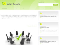 Frontpage screenshot for site: (http://www.am-patacic.hr)