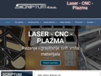 Frontpage screenshot for site: Lasersko rezanje, graviranje i markiranje (http://www.scriptum.hr)