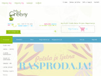 Frontpage screenshot for site: Mini Greeny - za bebe, djecu, trudnice i dojilje (http://www.minigreeny.com)