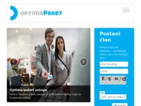 Frontpage screenshot for site: Optima-paket kartica (http://www.optima-paket.hr)